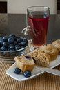 Blueberry Muffin Breakfast Stock Image