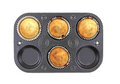 Blueberry Muffins Homemade Baking Pan Stock Image