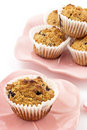 Blueberry oatmeal muffins Stock Photos