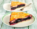 Blueberry pie Stock Photography