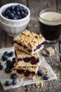 Blueberry pie bars Royalty Free Stock Photo