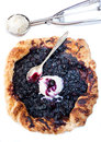 Blueberry pie with ice cream Royalty Free Stock Photo