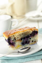 Blueberry pie slice Stock Photo