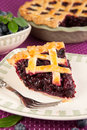 Blueberry pie slice of a Royalty Free Stock Image