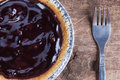 Blueberry pie on wood close up Stock Image