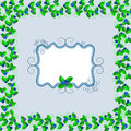 Blueberry postcard frame vector illustration Stock Image