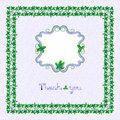 Blueberry postcard frame vector illustration Royalty Free Stock Photos