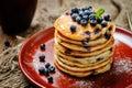 Blueberry Ricotta Pancakes Royalty Free Stock Photo