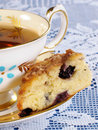 Blueberry Scone with Tea Royalty Free Stock Photo