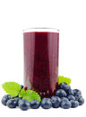Blueberry smoothie Royalty Free Stock Photo