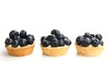 Blueberry tarts Royalty Free Stock Photos