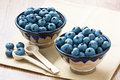 Blueberry two cup with ripe for healthy breakfast Stock Images