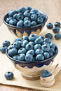 Blueberry two cup with ripe for healthy breakfast Royalty Free Stock Images
