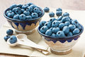 Blueberry two cup with ripe for healthy breakfast Royalty Free Stock Photography