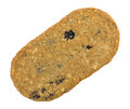 Blueberry wafer cookie isolated on a white background Royalty Free Stock Photo