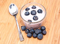 Blueberry Yoghurt Royalty Free Stock Photo