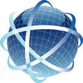 Blueglobesatelitte Royalty Free Stock Photos