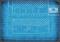 Blueprint of alterations to a house for and additions with white boarder Royalty Free Stock Images