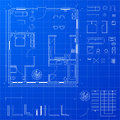 Blueprint elements Stock Photography