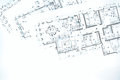 Blueprint floor plans, technical drawing, construction backgroun Royalty Free Stock Photo