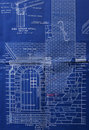 Blueprint, front detail Stock Photography
