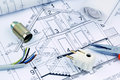 Blueprint for a house. electrical Royalty Free Stock Photo