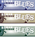 Blues Banners Royalty Free Stock Photography