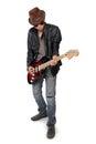 Blues guitar player cool attitude