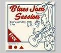 Blues Jam Hand Draw Poster