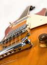 Blues orange guitar Stock Image