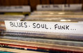Blues, Soul, Funk Records Royalty Free Stock Photo