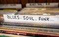 Blues, Soul, Funk Records Royalty Free Stock Photo