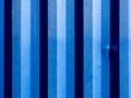 Blues stripes of a shipping container close up with nice abstract blue Royalty Free Stock Photo