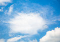Bluesky and cloud on sunny day Royalty Free Stock Photography