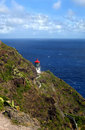 Bluff trail  to Makapuu Lighthouse Royalty Free Stock Image