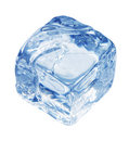 Bluish ice cube Stock Photography