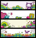 Blumenfahnen (Blumenserien) Stockbilder