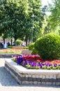 Blumengarten Hippodrom-Park Istanbul Stockfoto