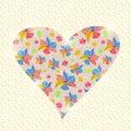 Blumenherz einladung valentine day card Lizenzfreies Stockbild