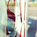 Blur background of sale word on window shop Royalty Free Stock Photo
