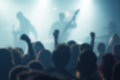 Blur defocused music concert crowd as abstract background Royalty Free Stock Photo