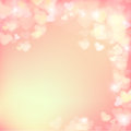 005 Blur heart on light pink abstract background vector illustration EPS 10