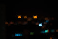 Blur image of kuala lumpur city mosque bokeh shape with light trail has been defined as the way the lens renders out focus points Royalty Free Stock Images