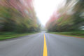 Blur moving ahead on the road Royalty Free Stock Photo