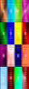 Blur rectangles multicolor background pattern Royalty Free Stock Images