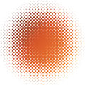 Blur of red and orange color by halftone effect Stock Photography