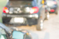 Blur shot of car on the road and rush hour Royalty Free Stock Images