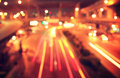 Blur of traffic light at night Royalty Free Stock Photo