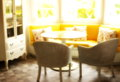 Blur yellow sofa in living room Royalty Free Stock Photo