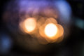 Blure orb lights cool and warm blured background Stock Image